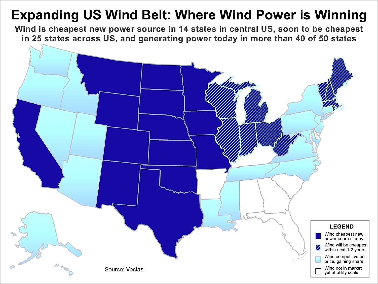 Map of Expanding US Wind Belt